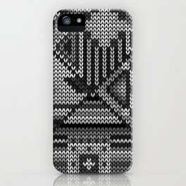grey knit iPhone Case