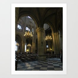 Cathedrale Notre Dame de Paris Art Print