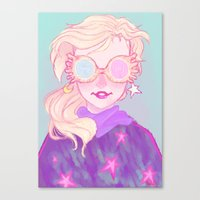 luna lovegood Canvas Prints featuring Luna Lovegood by Magnta