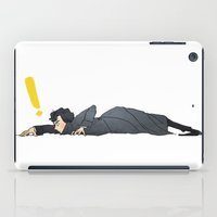 sherlock iPad Cases featuring SHERLOCK by ireallyshouldbedrawing