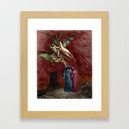 Dante and the Erinyes Framed Art Print