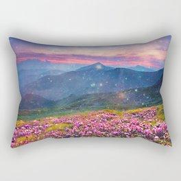 Blooming mountains Rectangular Pillow