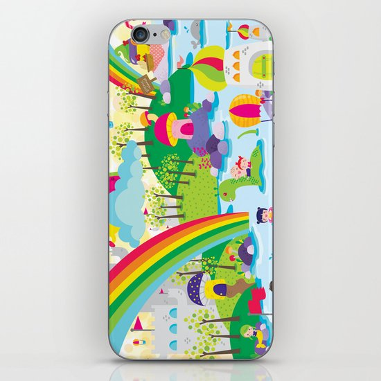 rainbow land iPhone & iPod Skin