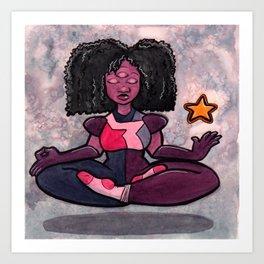Meditating Garnet Art Print