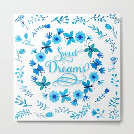 Sweet Dreams - Blue Metal Print