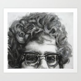 Peeping Frank Art Print