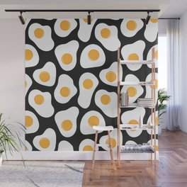 Cracking Fried Egg Pattern Wall Mural