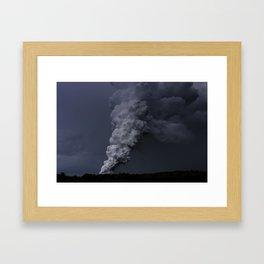 Hawaii's Kilauea volcano erupting. Framed Art Print
