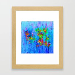 Blue Wash Jazzy Abstract Framed Art Print