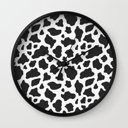 Cow Print Wall Clock