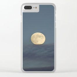Moon equilibrium Clear iPhone Case