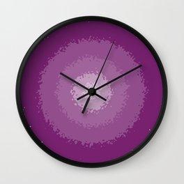 purple decay Wall Clock