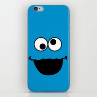 cookie monster iPhone & iPod Skins featuring Cookie Monster by Adel