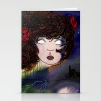 pain Stationery Cards featuring Pain by Anna Ilina