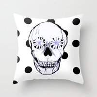 pushing daisies Throw Pillows featuring Pushing Daisies by nessieness