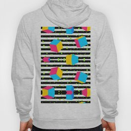Colorful cubes 80's Hoody