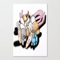 rabbits Canvas Prints featuring Rabbits by kyleray3000