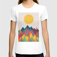 sun T-shirts featuring Uphill Battle by Picomodi