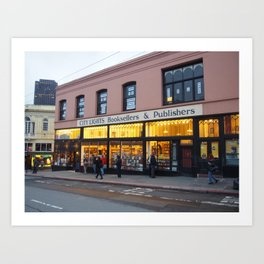 City Lights Book Store Art Print