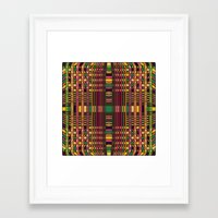 grid Framed Art Prints featuring Grid by Glanoramay