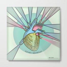HEART / Great Machine Metal Print