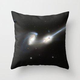 Galaxy merger Throw Pillow