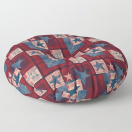 Creative patchwork. Star. The creative pattern. Floor Pillow