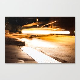 Flying Taxi Canvas Print