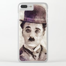 Charlie Chaplin, Comedy Legend Clear iPhone Case