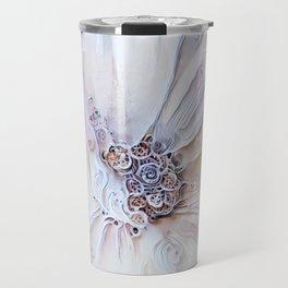 Redreaming Deep Dreamed White Flower Travel Mug