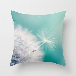 Dandelion Flight Throw Pillow