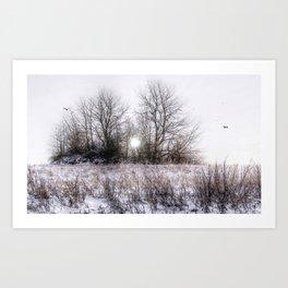 Winteridylle Art Print