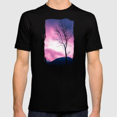 Into the Pink & Purple Sky  - JUSTART © Mens Fitted Tee Black LARGE