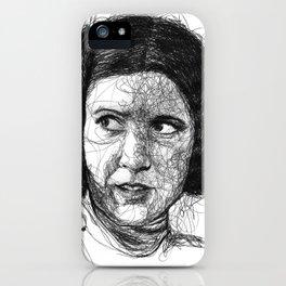 Leia scribbles (Pen Art) iPhone Case