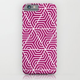 Jazzberry jam	- violet - Geometric Seamless Triangles Pattern iPhone Case