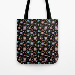 Multicolor flowers with cats Tote Bag