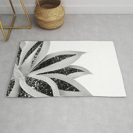 Agave Finesse Glitter Glam #5 #tropical #decor #art #society6 Rug