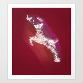 In Search Of Peace - (Maroon) Art Print