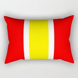 TEAM COLORS 10...YELLOW ,RED Rectangular Pillow