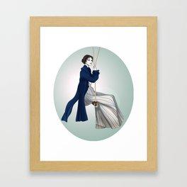 Fashion Illustration - Pride & Prejudice Framed Art Print