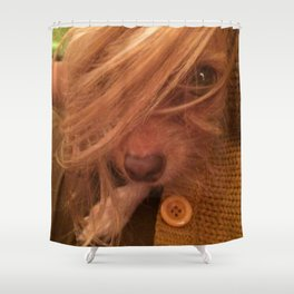FARRAH MAiSEY (shelter pup) Shower Curtain