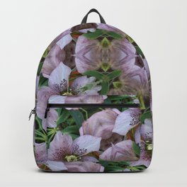 Hellebore Mandala - Abstract Floral Art by Fluid Nature Backpack