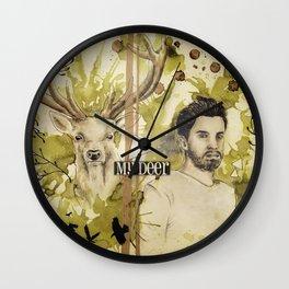 Romain & the deer Wall Clock