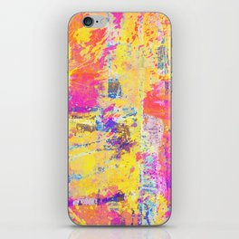 Always Look On The Bright Side - Abstract, textured painting iPhone Skin