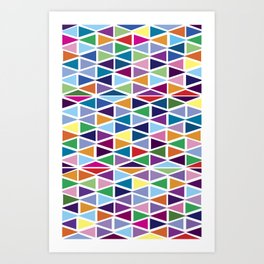 Rainbow geometry  Art Print