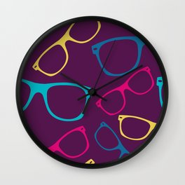 glasses Seamless pattern retro sunglasses Wall Clock