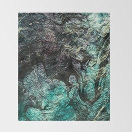 Marble ink texture Throw Blanket