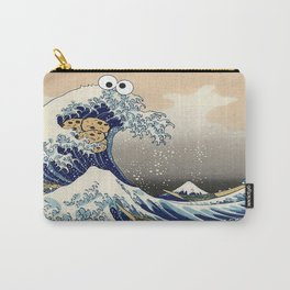 Great Wave off Kanagawa purple T-Shirt Carry-All Pouch