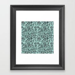 Ghosties Repeat Framed Art Print