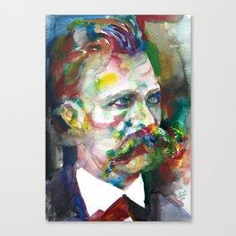 FRIEDRICH NIETZSCHE - watercolor portrait.4 Canvas Print
